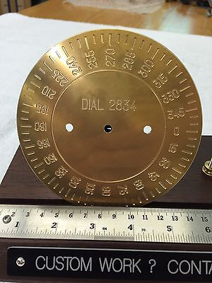 Brass Engraving Plate For New Hermes Font Tray Instrument Dial Degrees Wheel