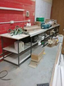 wooden work benches with steel frames (4) Balcatta Stirling Area Preview