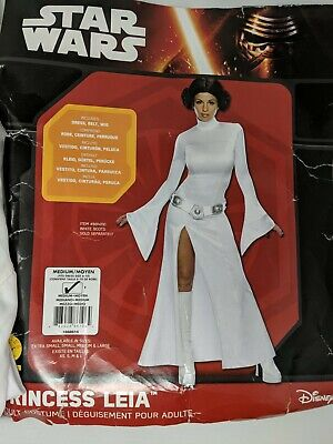Star Wars White Princess Lela Adult Costume Dress Sz.(6-10) Dress Only.