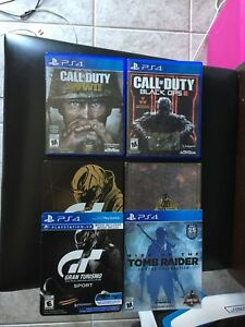 PS4 PlayStation 4 Cod ww2 GT steelbook battlefield 1