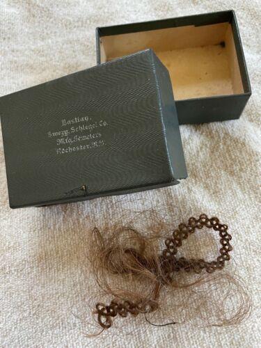 Antique Mourning Hair Friendship Hair Lock in Box