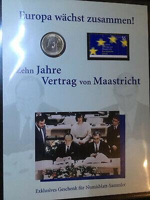 Sonderausgabe Deutsche Post Zehn Jahre Vertrag von Maastricht, gebraucht gebraucht kaufen  Bruckberg