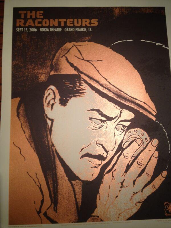 Rare 2006 Raconteurs - Texas Silkscreen Poster Signed by Rob Jones (Jack White)