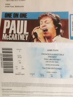 Paul McCartney tickets x2