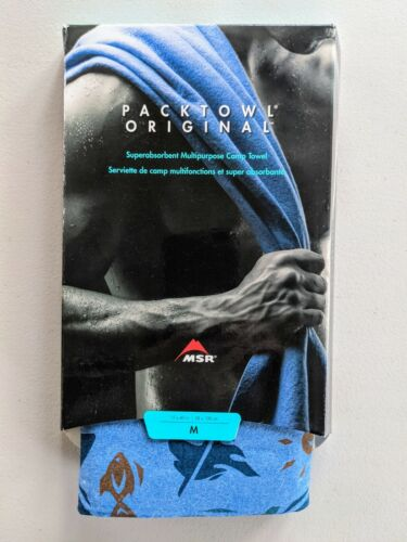 MSR PackTowl Original - Ultralight Travel Camp Towel - Medium 15x40 NEW
