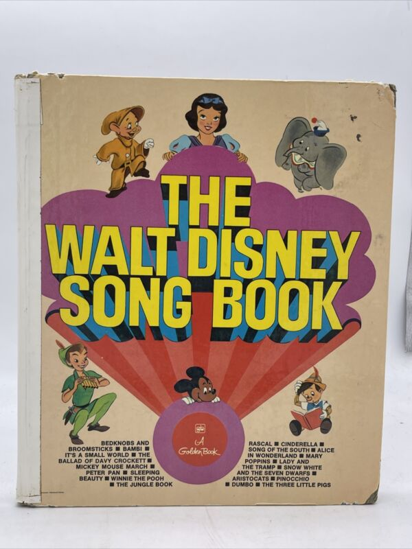 The Walt Disney Song Book, 1974 Hardcover 34 Songs W/ Lyrics & Sheet Music
