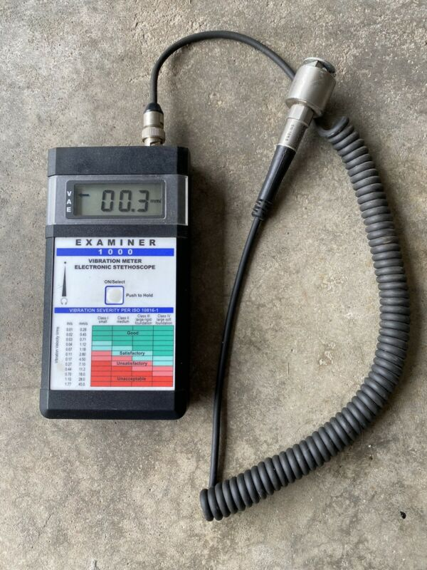 Monarch Examiner 1000 System Vibration Meter Electronic Stethoscope