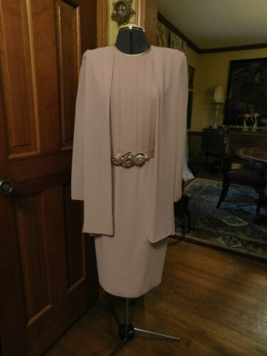 """STUNNING LIGHT PINK """"URSULA"""" MOTHER OF THE BRIDE/SPECIAL OCCASION DRESS SIZE 12"""