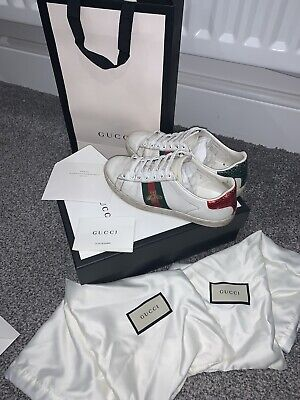 100% Genuine Gucci Ace Trainers Size 4