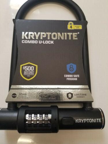 """Kryptonite Combo U Lock 4.25"""" x 8"""" 12mm"""