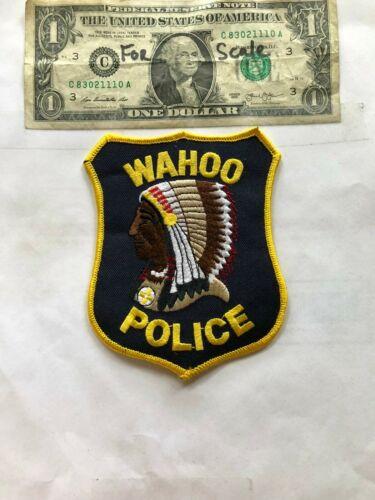 Wahoo Nebraska Police Patch Un-sewn in great shape