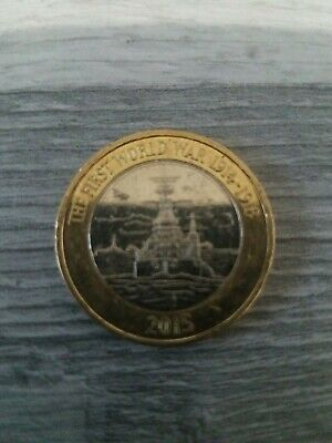 RARE £2 Two pound Coin 2015 The First World War 1914-1918 Royal Navy HMS Belfast