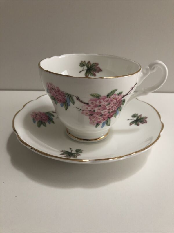 Regency English Tea Cup and Saucer Gold Trim English Bone China Made in England