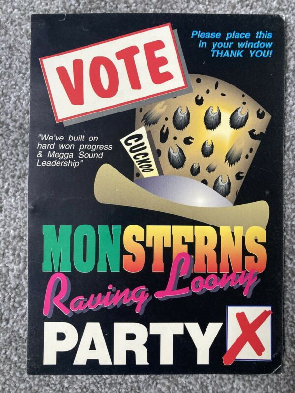 Sterns Rave flyer April 1992