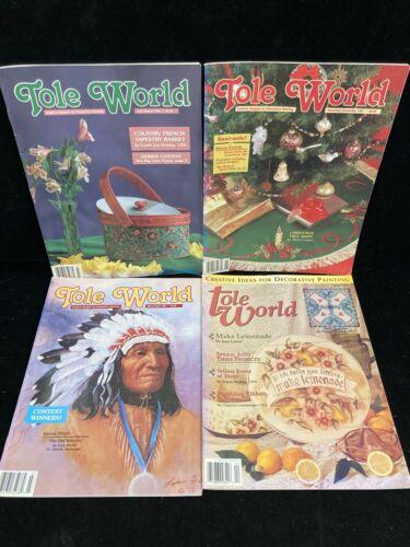 TOLE WORLD, LOT OF 4 MAGAZINES, 1991-1994