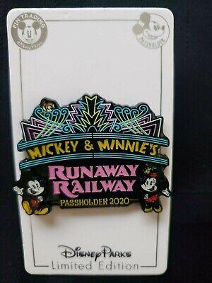 NEW WDW Disney Mickey & Minnie Mouse Runaway Railway Annual Passholder pin