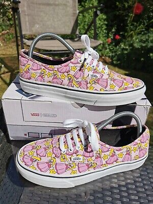 Vans Nintendo Princess Peach Vans Lace Up Trainers UK 7 Ex Condition With Box