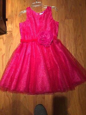 parkle Dress with sash And Large Flower size 16  sleeveless (Zoe Ltd)