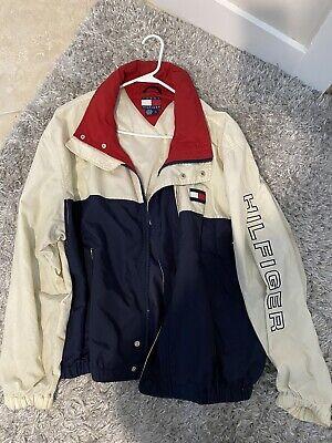 Vintage Tommy Hilfiger Mens Jacket Size L Color Block 90's Large