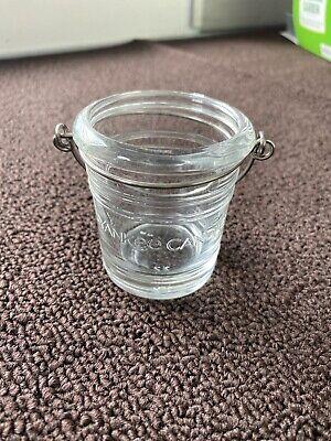 Yankee Candle Clear Glass Bucket Pail Votive Tea Light Holder Beach Summer