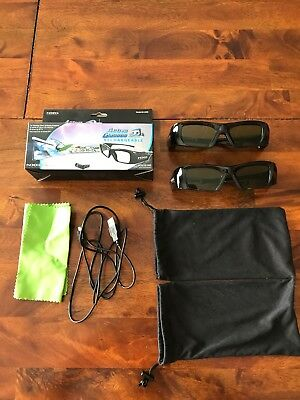 NXG 3D Active Kit W 2 Emitterrecharge Glasses 3D-3DGRKIT PC Samsung TV Projector