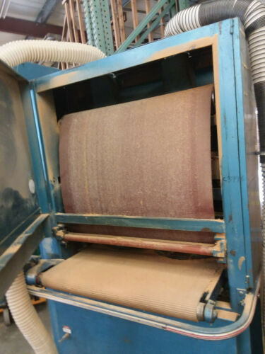 """AEM Wide belt sander in working condition. 37""""x60""""  belt, 36"""" capacity."""