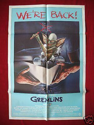GREMLINS * 1985 ORIGINAL MOVIE POSTER RE-RELEASE 1SH GIZMO STRIPE HALLOWEEN NM](Re Releasing Halloween)