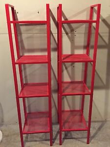 2 IKEA metal stands