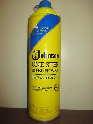 SC Johnson One Step No Buff Wax Fine Wood Floor Care 22 fl oz ONE CAN