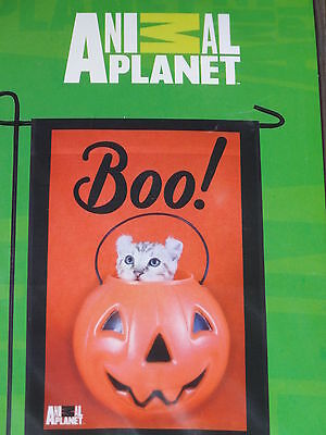 "Animal Planet Halloween Boo! Cat Decorative Garden Flag 12""X18""-New In Package"