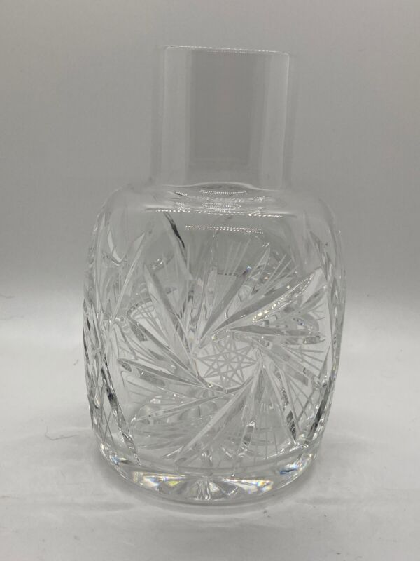 Dazzling Cut CRYSTAL WINE/WATER CARAFE With Hob Star & Pinwheel Design ~ MINT!