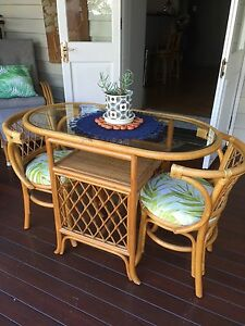 Cane dining setting for two Grange Brisbane North West Preview