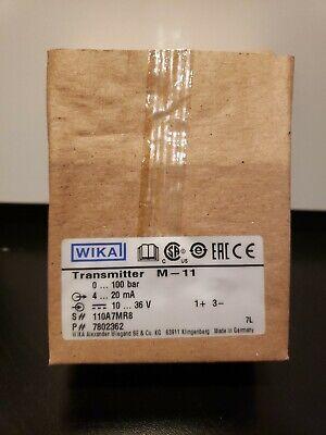New Wika M-11 Transmitter 7802362 4-20ma 0-100 Bar