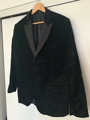 Men's Kent & Curwen Formal Black Velvet Jacket, Grosgrain lapel