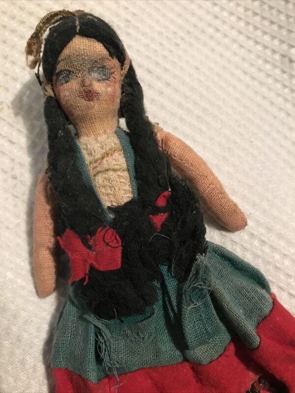 Antique Original Native American Navajo Primitive Tourist Souvenir Handmade Doll