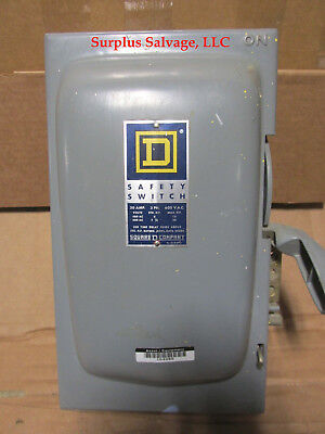 Square D 30 Amp Safety Switch Catalog H361 Series A2 600 Volt 3 Phase