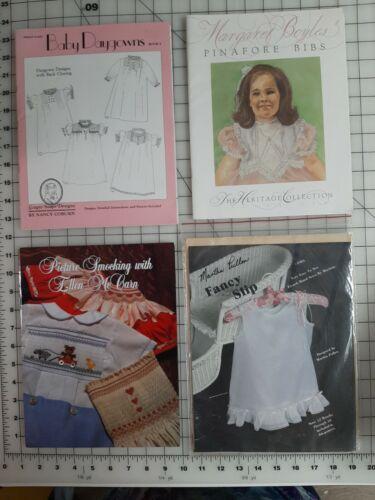 4 Great Uncut Smocking Heirloom Pattern Books Martha Pullen Coburn Boyles McCarn