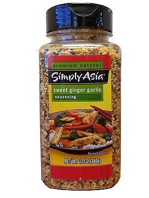 Simply Asia Premium Natural Sweet Ginger Garlic Seasoning 12 oz