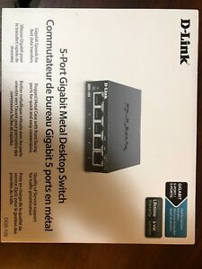 Dlink DGS105 5 port metal desktop Ethernet switch