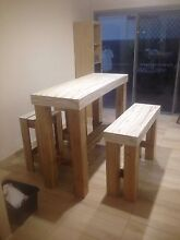Bar table with matching bench and stools Carrara Gold Coast City Preview