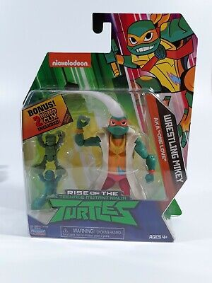 Wrestling Mikey Rise Of The TMNT Action Figure Playmates Toys