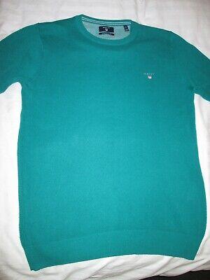 GANT Sweater Jumper Top, Size: Medium, Green, Men's, Premium Cotton, Used