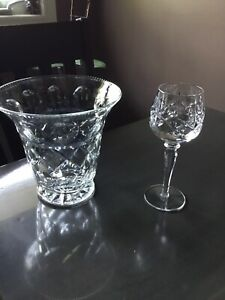 Crystal glasses, Vase and Wine Decanter