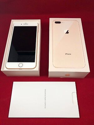 New Apple iPhone 8+ Plus Gold White 64GB GSM Unlocked A1897 AT&T T-Mobile Claro