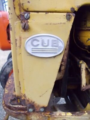 Farmall Cub Tractor Good Original Ih Radiator Left Side Panel Oval Emblem
