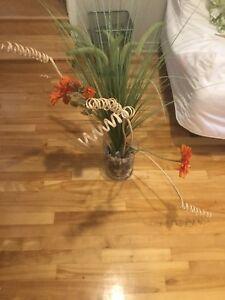 Vase fleurs séchées