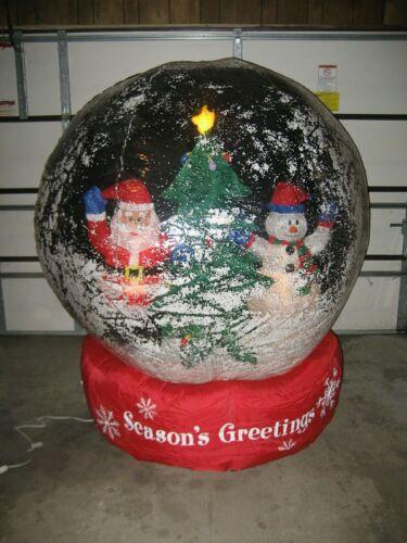 AIRBLOWN INFLATABLE GEMMY 6 Ft SNOWMAN CHRISTMAS TREE SNOW GLOBE  2005
