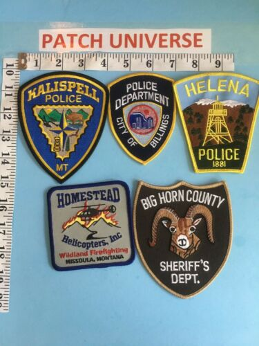 LOT OF 5 DIFFERENT  MONTANA   SHOULDER PATCHES  G068