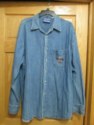 Hard Rock Cafe Phoenix Denim shirt jean shirt size XL