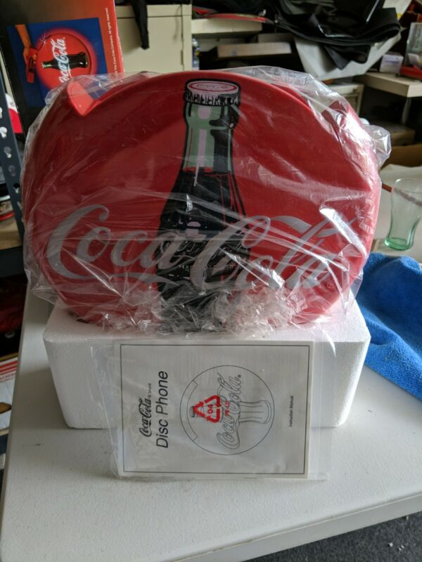 Coca Cola Coke Blinking Light Up Disc Telephone - New Old Stock